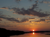 Sunset over the Chincoteague National Wildlife Refuge