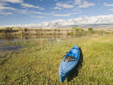 A Kayak Resting on the Banks of the Owens River