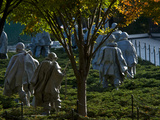 The Korean War Memorial in Autumn