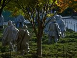 The Korean War Memorial in Autumn