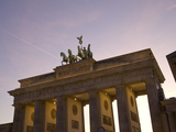 Low Angle View of the Statue Atop the Brandenburg Gate
