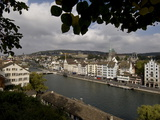 View of the Limmat River Running Through Zurich