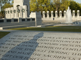 The World War II Memorial with the Shadow of a WWII Veteran