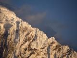 A Snow Covered Ridge on Salcantay Peak