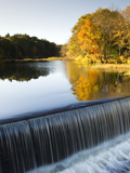 Fall Colors and a Waterfall on Eagleville Lake