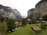 Village in the Scenic Lauterbrunnen Valley