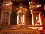 Detail of the Treasury  Al Khazneh  at Petra  Jordan