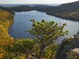 Mountain Top View of a Pond in Acadia National Park