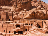 Tombs on the Street of Facades  Petra  Jordan