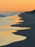 Silhouetted Beach Fishermen at Twilight