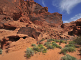 Sandstone Cliffs in the Valley of Fire State Park