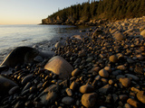 Sunset at a Rocky Beach Near Otter Cliff