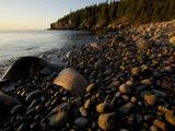 Sunset at a Rocky Beach Near Otter Cliff