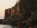 Warm Sunlight at Sunrise on Otter Cliff