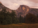 Half Dome Mountain at Dusk