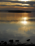 Sunset over the Calm Waters of Penobscot Bay  Maine