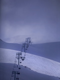 The Ski Lift at Faraya Ski Resort Near Beirut