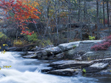 Fall Colors and a Waterfall in Mansfield Hollow State Park