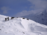 Herders and Mule Depart the Rupal Valley