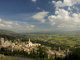 A Valley Leading to Spoleto Stretches Beneath the Town of Assisi