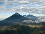Aerial View of Volcanoes in the Lake Atitlan Area