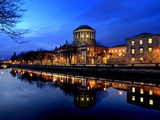 Four Courts on the River Liffey in Dublin  Ireland