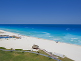The Turquoise Waters and White Sand Beaches at Cancun  Mexico