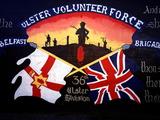 A Loyalist Political Mural in Belfast  Northern Ireland