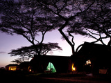 Predawn at a Tent Camp at the Serengeti Plain in Tanzania