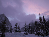 Snowy Mountain Scenic at Twilight