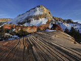 Petrified Sand Dunes in Zion National Park in Winter