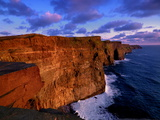 Sunset at the Cliffs of Moher on the West Coast of Ireland