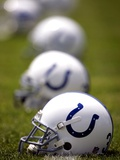Colts Football: Franklin  IN - Colts Helmets