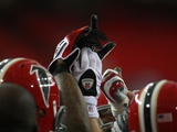 Panthers Falcons Football: Atlanta  GA - Falcons Huddle