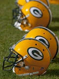 Packers Training Camp: Green Bay  WISCONSIN - Green Bay Packers Helmets
