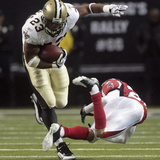 Saints Falcons Football: Atlanta  GA - Pierre Thomas
