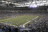 Vikings Lions Football: Detroit  MI - Ford Field Panorama