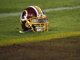 Patriots Redskins Football: Landover  MD - A Washington Redskins Helmet