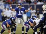 Chargers Giants Football: East Rutherford  NJ - Eli Manning