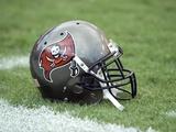 Texans Buccaneers Football: Tampa  FL - A Tampa Bay Buccaneers Helmet