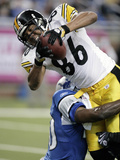 Steelers Lions Football: Detroit  MI - Hines Ward