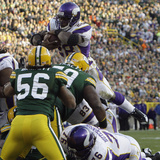 Vikings Packers Football: Green Bay  WI - Adrian Peterson