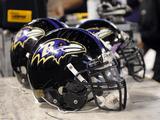 Steelers Ravens Football: Baltimore  MD - Baltimore Ravens Helmets
