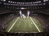 Lions Saints Football: New Orleans  LA - Saints Enter the Superdome