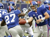 Seahawks Giants Football: East Rutherford  NEW JERSEY - Eli Manning and Brandon Jacobs