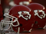 Seahawks Chiefs Football: Kansas City  MO - Chiefs Helmets