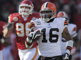 Browns Chiefs Football: Kansas City  MO - Josh Cribbs