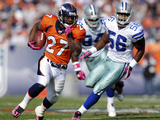 Cowboys Broncos Football: Denver  CO - Knowshon Moreno