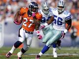 Cowboys Broncos Football: Denver  CO - Knowshon Moreno