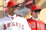 Los Angeles Angels of Anaheim  CA - December 10: Newly Signed Albert Pujols and CJ Wilson